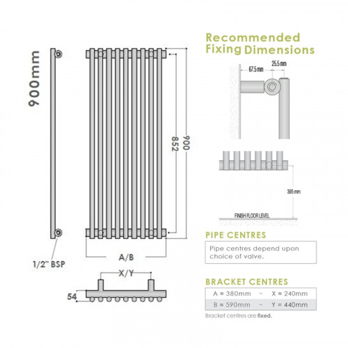 Tanzanite Chrome Radiator - 900 x 590mm