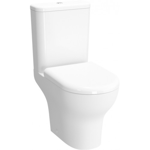Zentrum Close Coupled Open Back WC Pan - Rimless