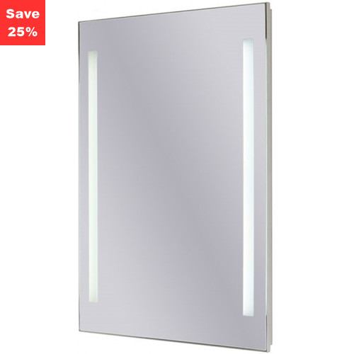 Origins - Sapphire LED Mirror 400x600x43mm (WxDxH) Twin Lights