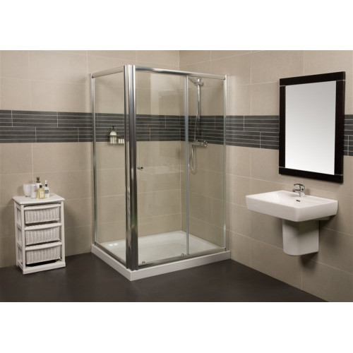 Wellspring 1000mm Sliding Shower Door