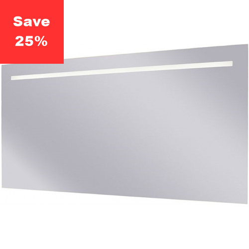 Sapphire LED Mirror 1200x600x38mm (WxDxH) Single Light Top