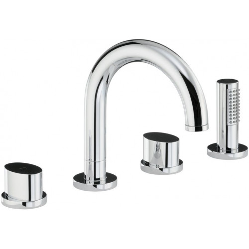 Abode - Debut Thermo Deck Mounted 4 Hole Bath Shower Mixer