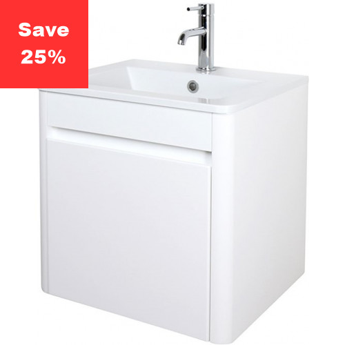 Emerald Vanity 50 Basin Unit White