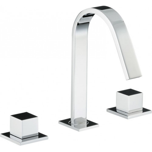 Abode - Zeal Deck Mounted 3 Hole Basin Mixer No Waste
