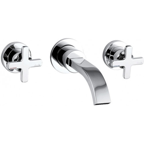 Abode - Serenitie 3 Hole Wall Mounted Bath Mixer