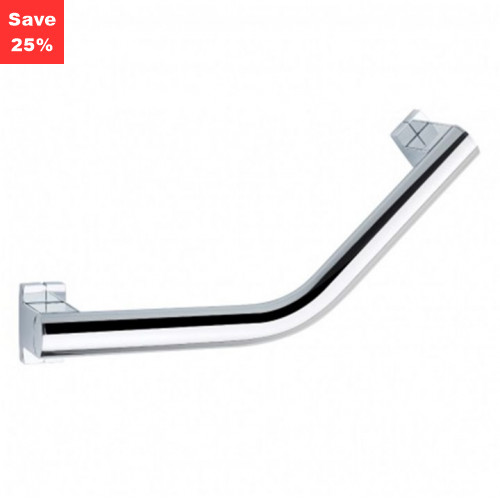 Origins - Pellet AL Arsis Angled Grab Bar 200mm Bright Anodised