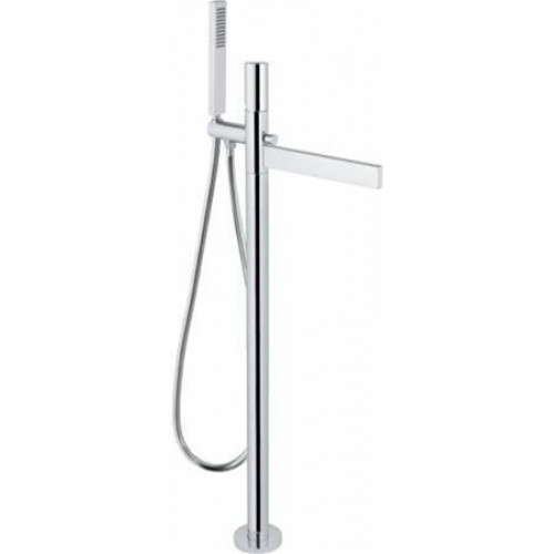 Abode - Cyclo Floor Standing Bath Filler With Shower Handset