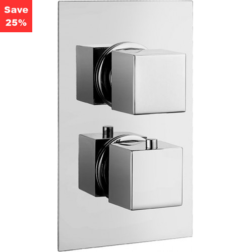 Origins - Onyx Square Thermo Shower Mixer (2 Outlet)