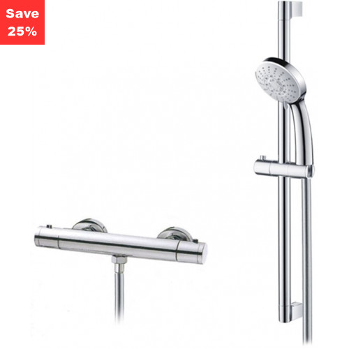 Origins - Onyx Exposed Thermostatic Bar Shower & Riser Rail