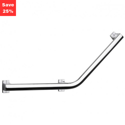Origins - Pellet AL Arsis Angled Grab Bar 400mm Bright Anodised