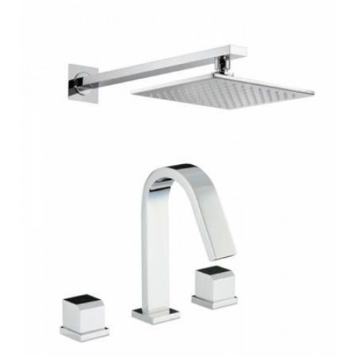 Abode - Extase Thermo Deck Mounted 3 Hole Bath Mixer