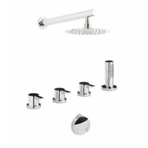 Abode - Desire Thermo Deck Mounted Bath Overflow Filler Kit