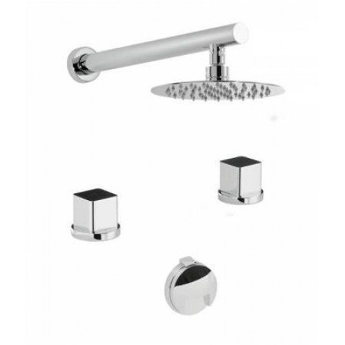 Abode - Rapport 2 Hole Bath Overflow Filler Kit