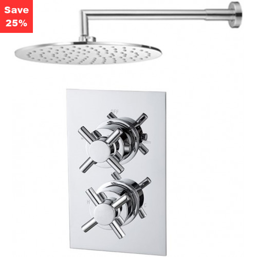 Origins - Onyx Thermostatic Cross Shower & Round Overhead