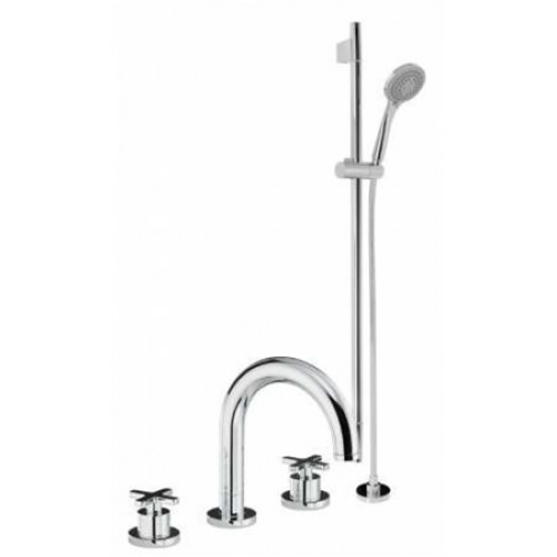 Abode - Serenitie Thermo Deck Mounted 3 Hole Bath Mixer