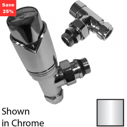 Origins - Garnet Angled Radiator Valve Pack - Chrome