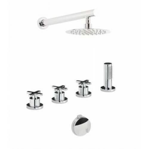 Abode - Serenitie Thermo Deck Mounted Bath Overflow Filler Kit