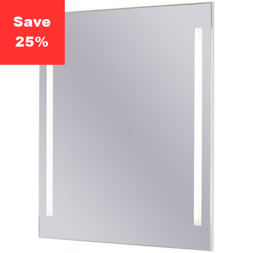 Sapphire LED Mirror 500x600x43mm (WxDxH) Twin Lights