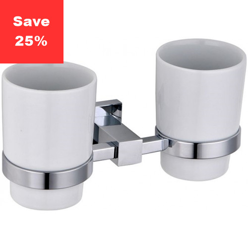 Line Double Tumbler Holder & Cups
