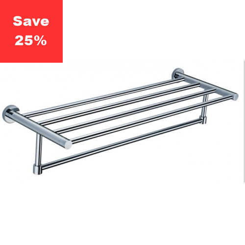 Halo Towel Rail Shelf Chrome