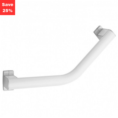 Origins - Pellet AL Arsis Angled Grab Bar 200mm White Chrome