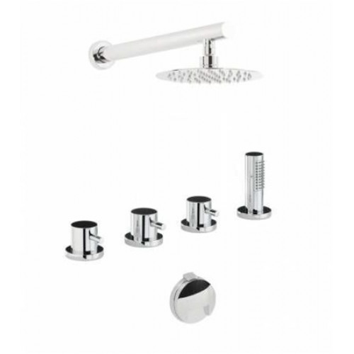 Abode - Harmonie Thermo Deck Mounted Bath Overflow Filler Kit