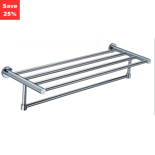 Origins - Halo Towel Rail Shelf Chrome