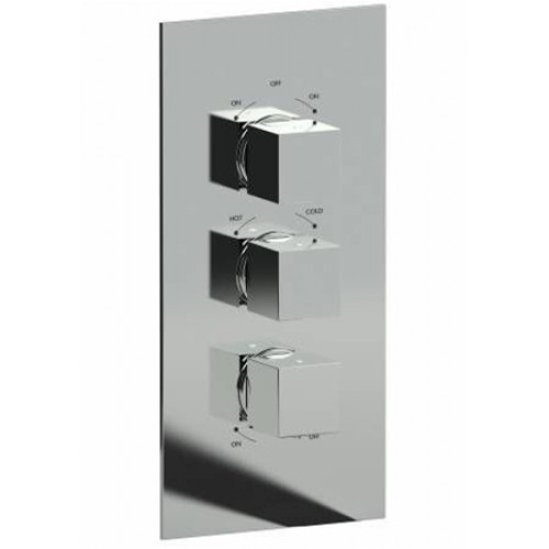 Abode - Zeal 3 Control Concealed Thermostatic Shower Valve (3 Exit)
