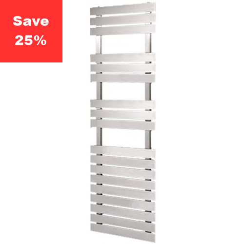 Amethyst S Towel Radiator - Brushed Steel - 1595 x 500mm
