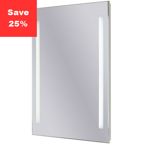 Sapphire LED Mirror 400x600x43mm (WxDxH) Twin Lights
