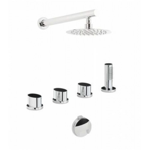 Abode - Debut Thermo Deck Mounted Bath Overflow Filler Kit