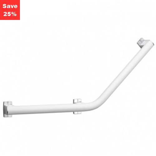 Origins - Pellet AL Arsis Angled Grab Bar 400mm White Chrome