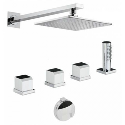 Abode - Extase Thermo Deck Mounted Bath Overflow Filler Kit