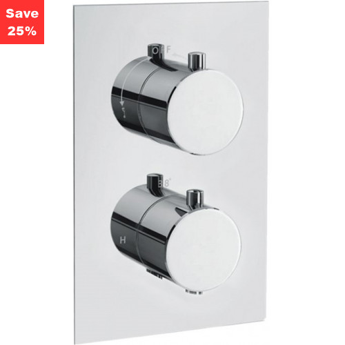 Onyx Round Thermo Shower Mixer (2 Outlet)