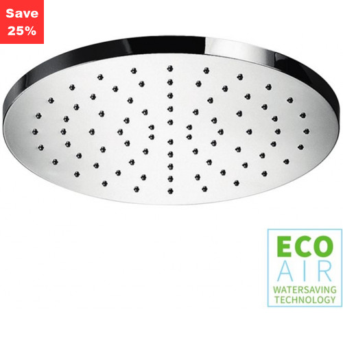 Opal Round Shower Head EcoAir Chrome 250