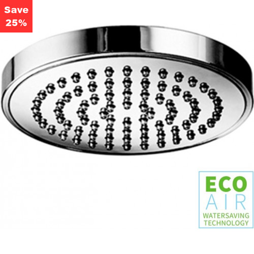 Opal Round Shower Head EcoAir 100 Chrome