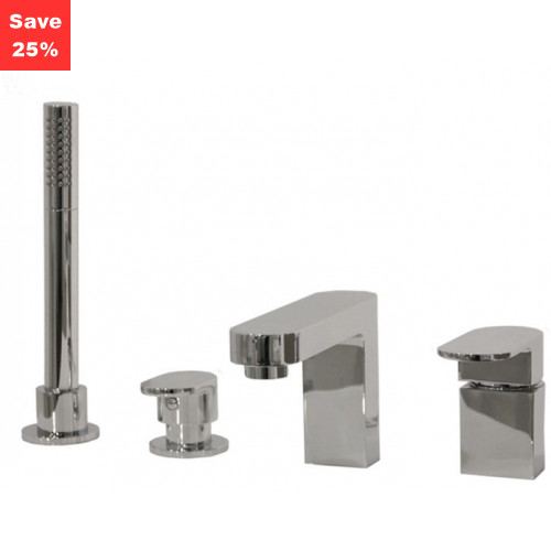 Spinel Deck Mounted Bath Shower Mixer Tap - 4 Taphole