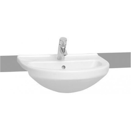 S50 Semi-Recessed Basin 55cm Round 1TH