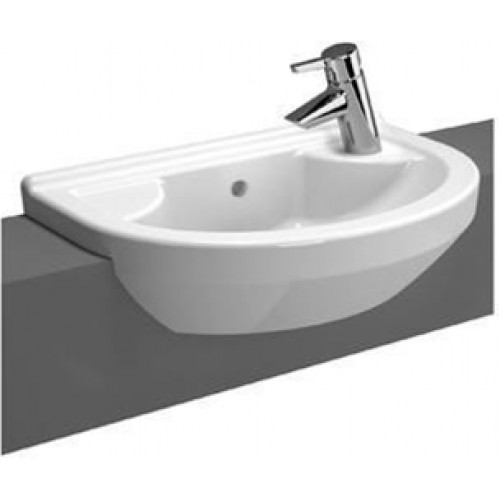 S50 Compact Semi-Recessed Basin 55cm Round 1TH LH