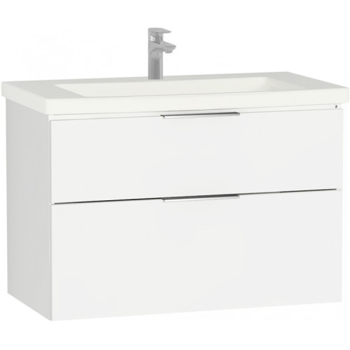 Ecora 90cm 2 Drawer Washbasin Unit