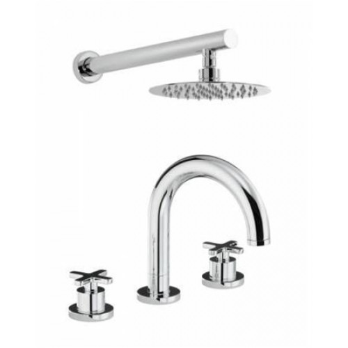 Serenitie Thermo Deck Mounted 3 Hole Bath Mixer