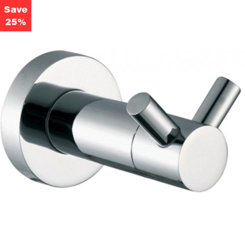 Halo Robe Hook Double Chrome