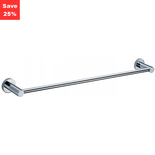 Halo Towel Rail Single Chrome