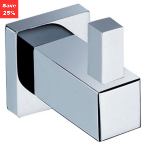 Line Robe Hook Single Chrome