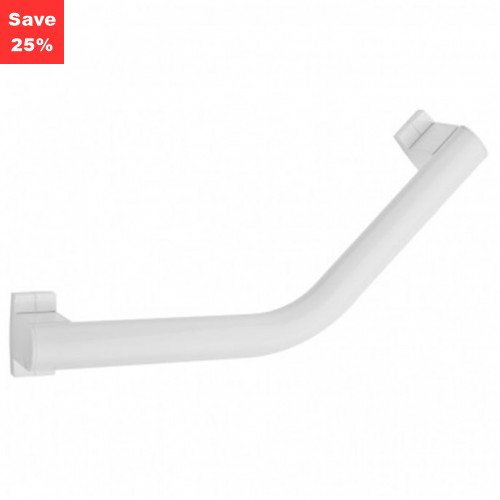Pellet AL Arsis Angled Grab Bar 200mm White