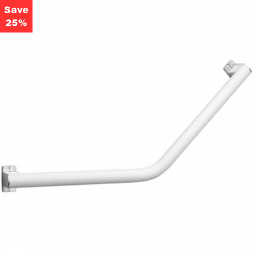 Pellet AL Aris Angled Grab Bar 400mm White Satin