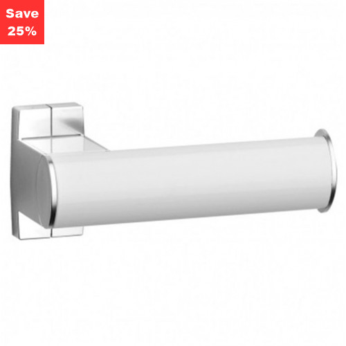 Pellet AL Arsis Toilet Roll Holder Single White Chrome