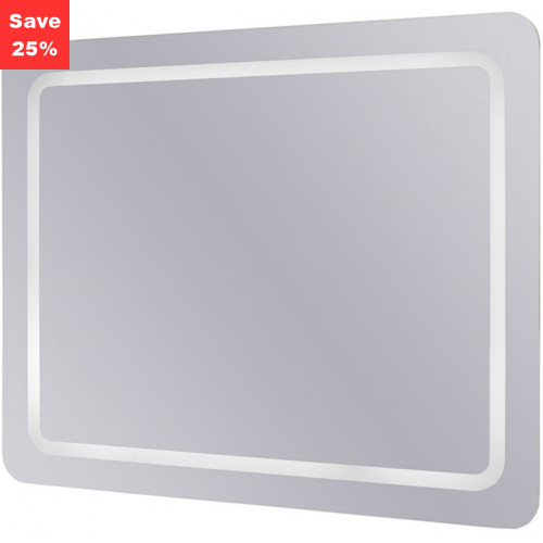 Emerald LED Mirror Portrait/Landscape 800x640x45mm