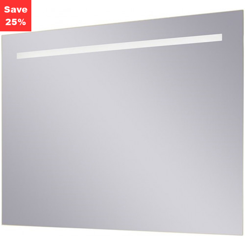 Sapphire LED Mirror 800x600x38mm (WxDxH) Single Light Top